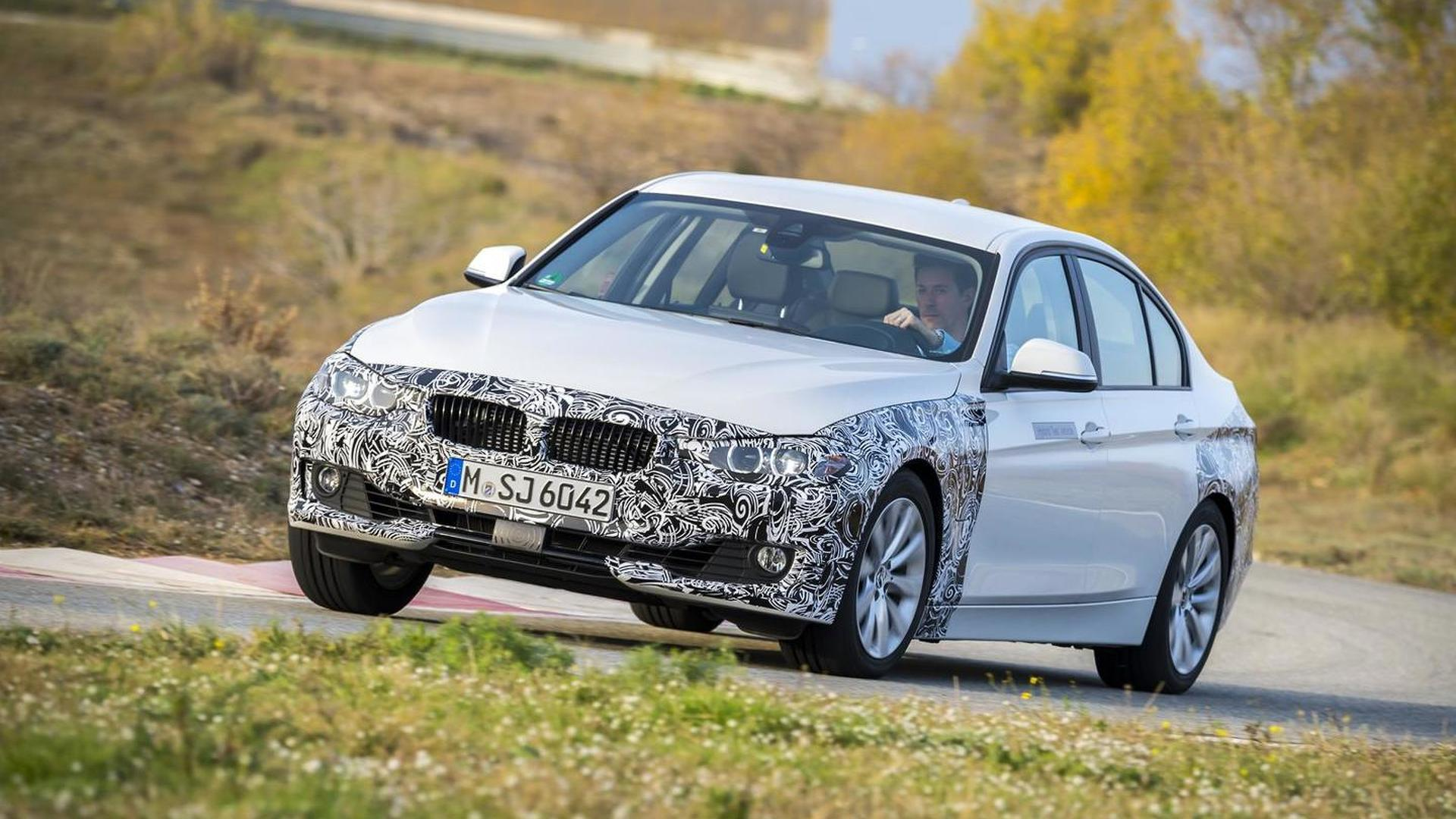 BMW 3-Series plug-in hybrid prototype revealed
