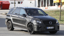 2012 Mercedes Benz ML63 AMG spied with more details
