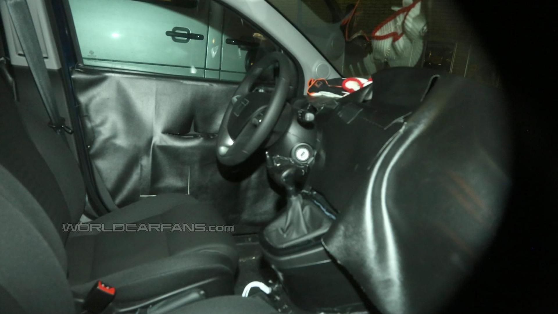 Lancia Ypsilon facelift spied inside and out near the Arctic Circle