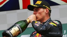 Podium: third place Max Verstappen, Red Bull Racing celebrates with champagne
