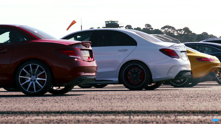 Mercedes-AMG six-way drag race