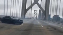 San Francisco Bay Bridge donuts end with arrest and impounded Mustang