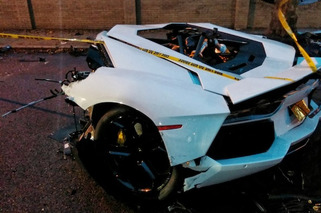 Lamborghini Aventador Splits in Half During Crash [w/video]