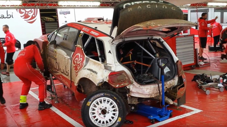 Watch a wrecked Citroen rally car be rebuilt in just 30 minutes