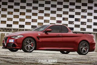 This is What a 505-HP Alfa Romeo Pickup Could Look Like