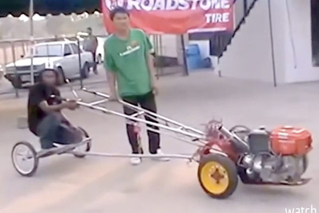 This Kubota Chariot is the Strangest Dragster We've Ever Seen [Video]