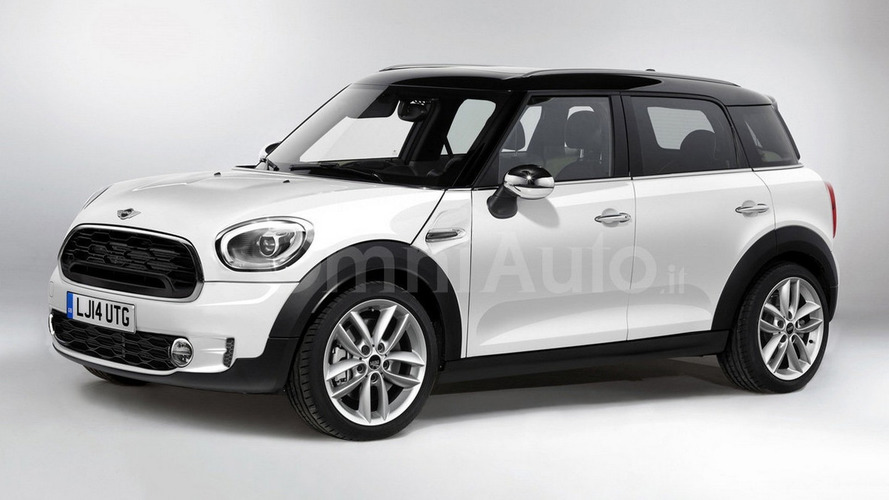 2017 Mini Countryman render shows predictable design
