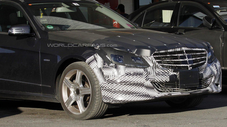 2014 Mercedes E-Class facelift spy photos reveal headlamp shape
