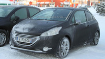 2013 Peugeot 208 GTI spied in the snow