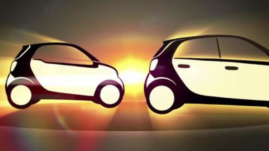 2015 Smart ForTwo and ForFour teased [video]