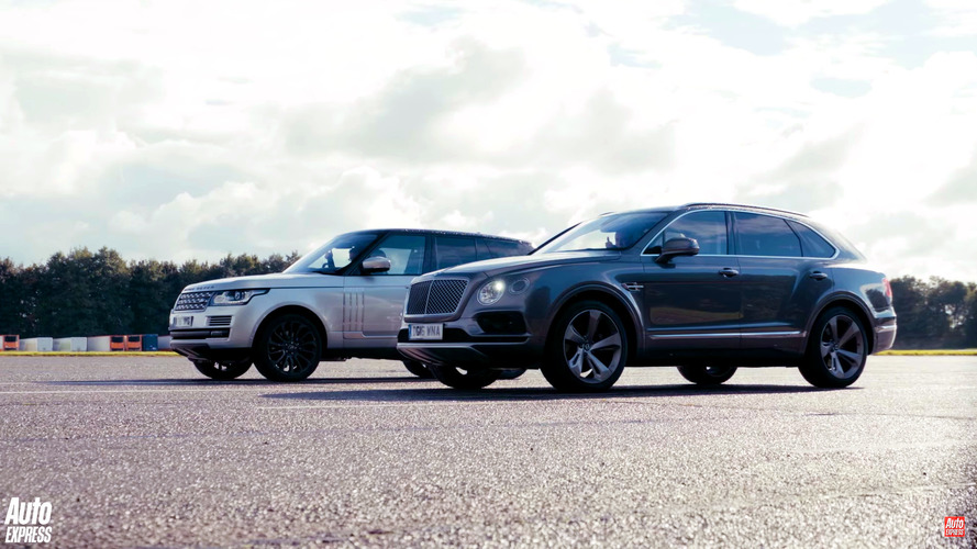 Bentley Bentayga versus Land Rover Range Rover drag race