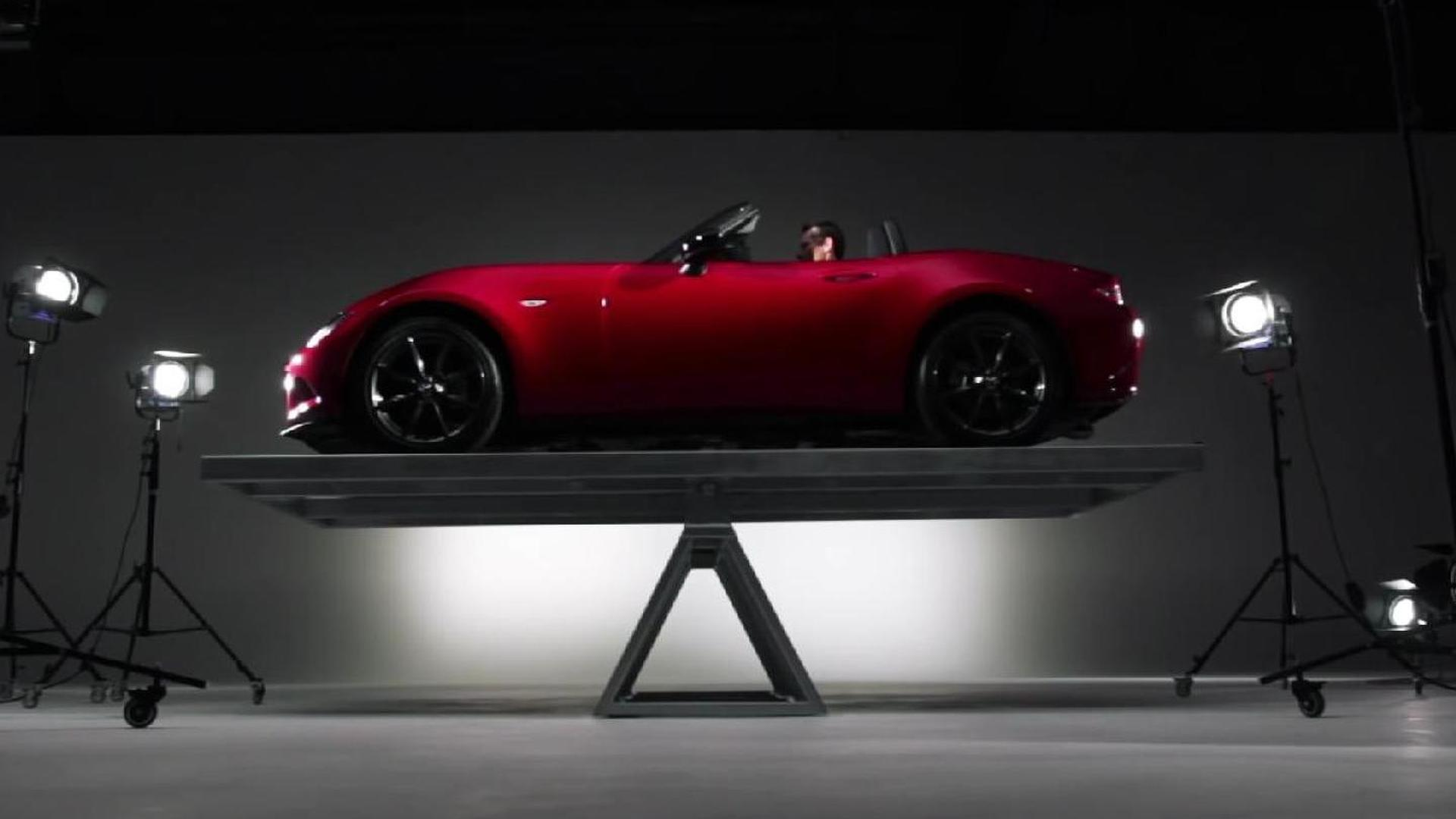 Mazda highlights the MX-5's weight distribution [video]