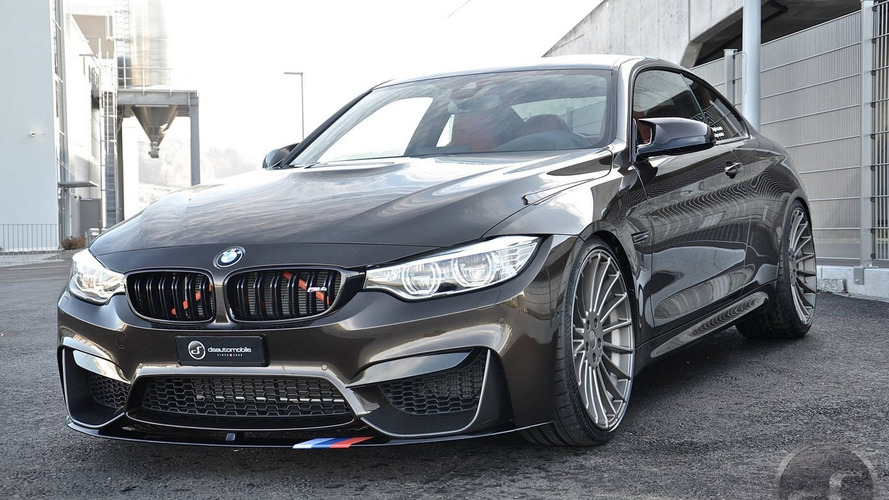 BMW M4 in Pyrite Brown with M Performance parts is a looker