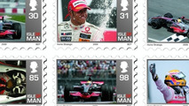 Lewis Hamilton Immortalized on Isle of Man postage stamp
