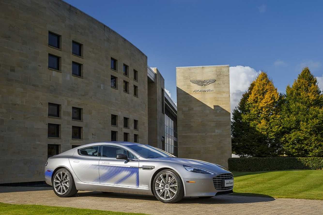 Aston Martin Unveils Working Electric RapidE Prototype