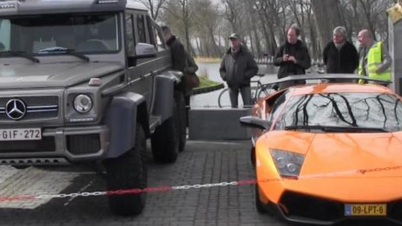 Lamborghini Murcielago LP670-4 SuperVeloce and Mercedes-Benz G63 AMG 6x6