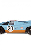 Full-size Porsche 917 replica with built-in 1:32-scale Le Mans raceway