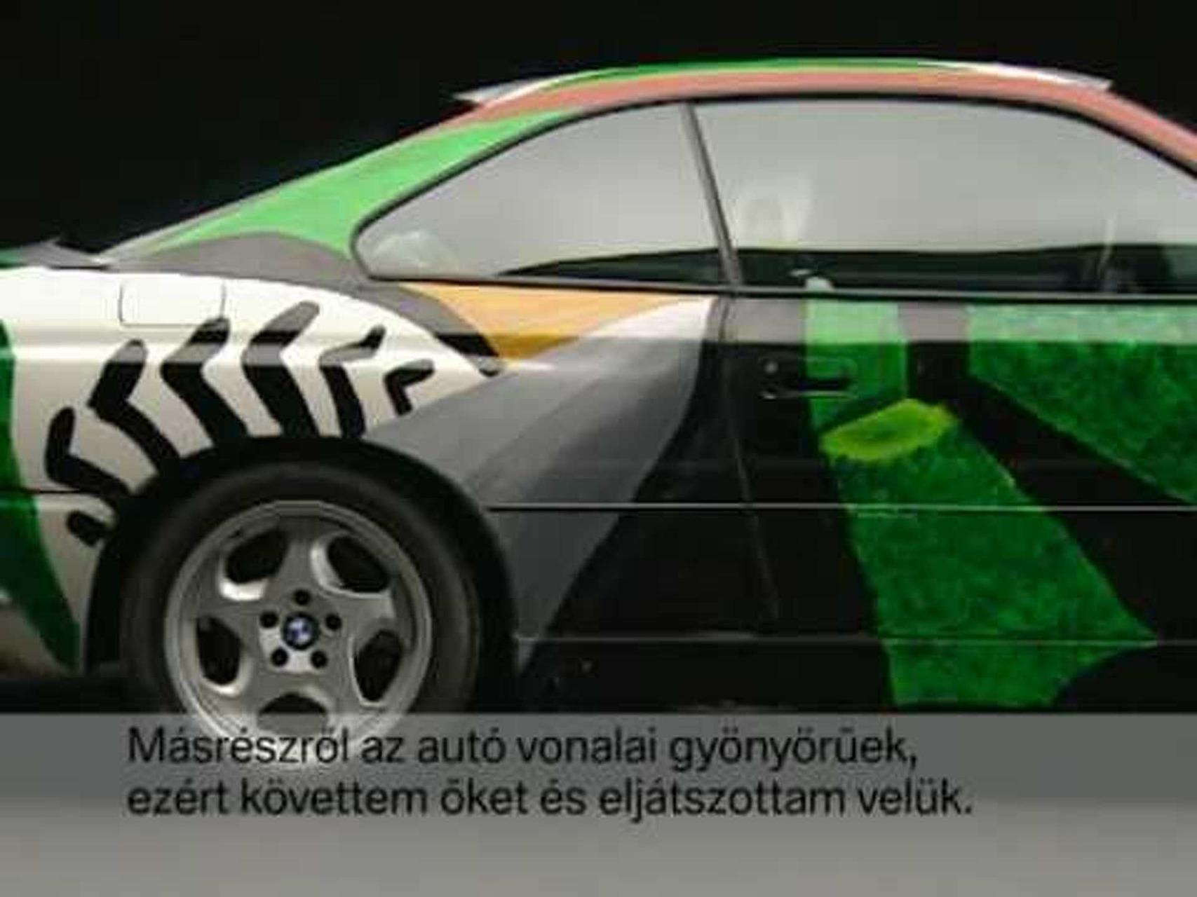 BMW Art Car - 1995 David Hockney 850 CSi.mpg