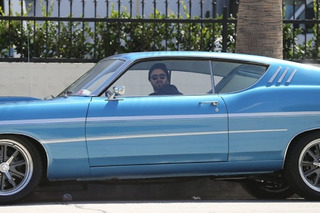 Aaron Paul Drives His Ford Torino Around LA Like A Boss