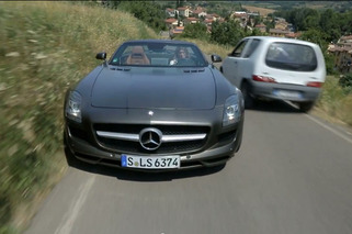 Video: Mercedes Benz SLS AMG Roadster Relives Racing's Past Glory