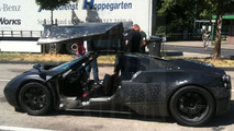 Pagani C9 caught with gullwing doors open
