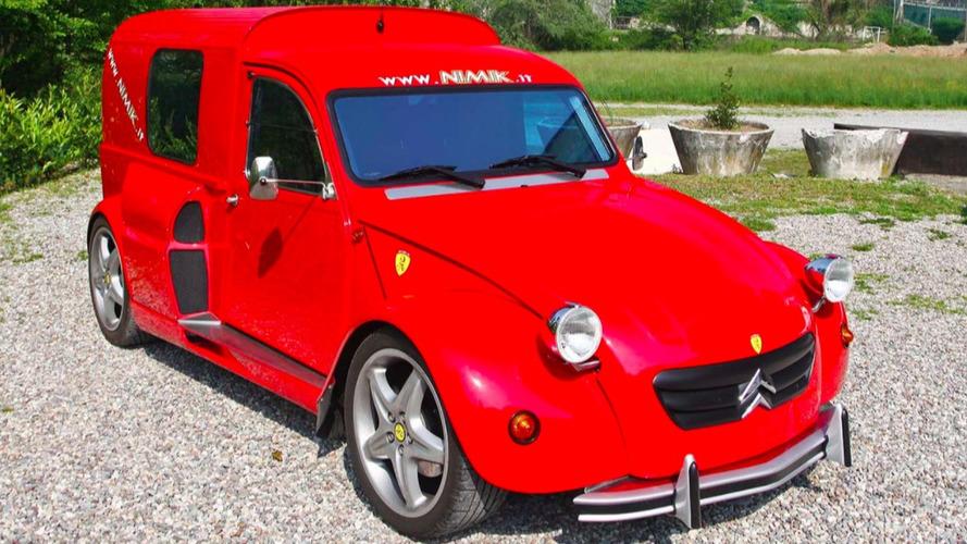 Avez-vous déjà vu ? Une Citroën 2CV avec un moteur Ferrari ?