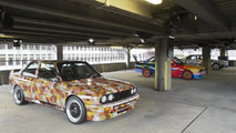 BMW Art Car collection exhibition in UK car park in Shoreditch 26.07.2012
