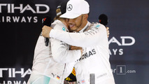 Podium: race winner Lewis Hamilton, Mercedes AMG F1 W07 Hybrid, second place Nico Rosberg, Mercedes AMG F1 W07 Hybrid