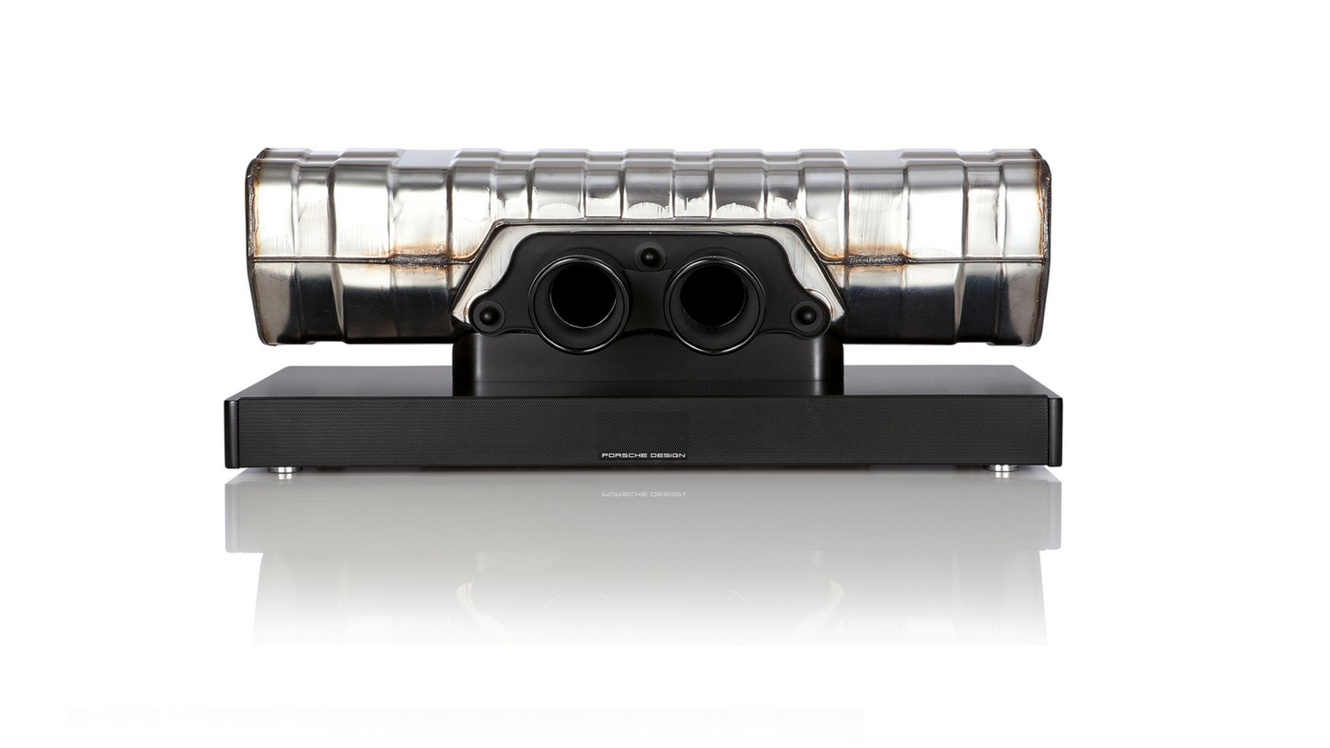 Porsche will sell you a $3k soundbar made from an exhaust. Your GF will hate it