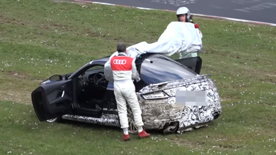 Audi acts fast to cover crashed TT RS prototype at Nürburgring