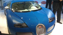 Bugatti Veyron Bleu Centenaire Unveiled in Preview Evening