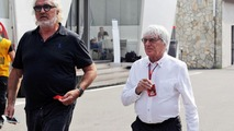(L to R): Flavio Briatore, with Bernie Ecclestone