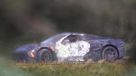 Mid-engine Corvette spied in detail for first time