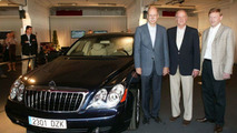 King of Spain Juan Carlos I with his new Maybach