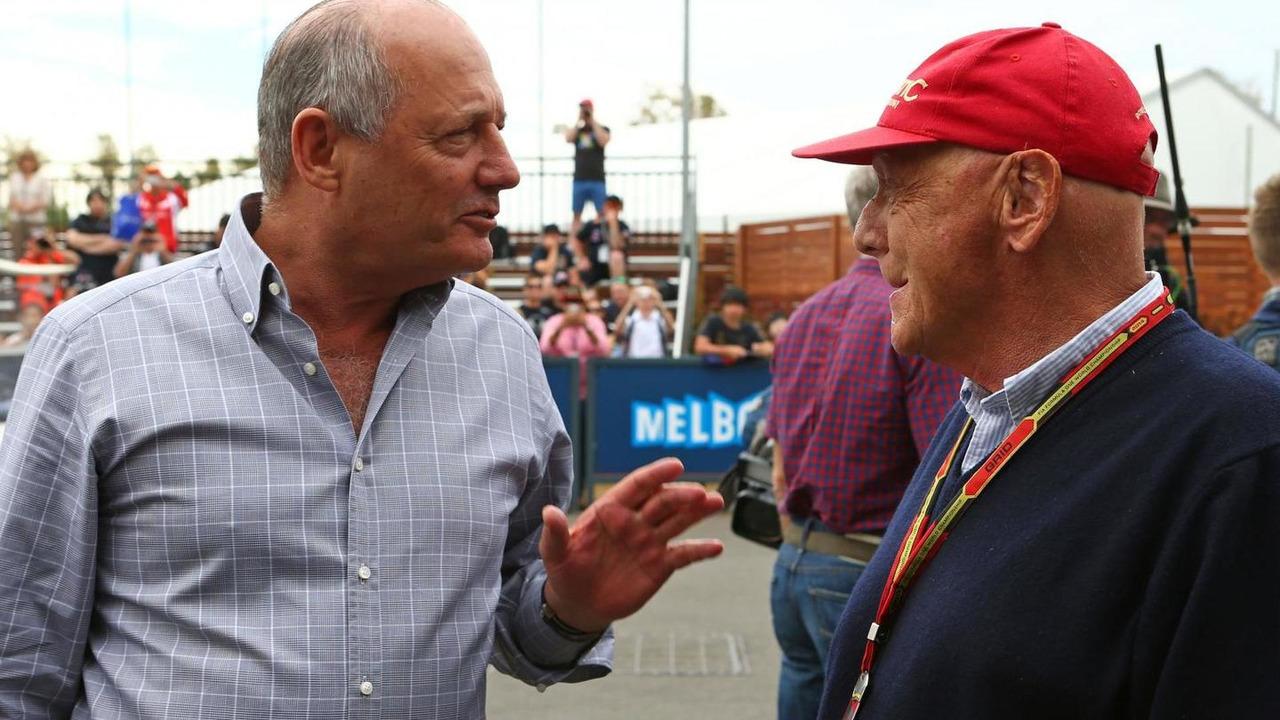 Ron Dennis (GBR) with Niki Lauda (AUT), 15.03.2014, Australian Grand Prix, Albert Park, Melbourne / XPB