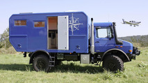 Roughing it in Mercedes Unimog U 4000 Camper for €250k