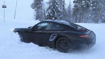 2012 Porsche 911 prototype gets stuck in the snow