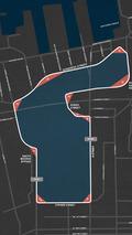 Map route for IndyCar's Boston Grand Prix