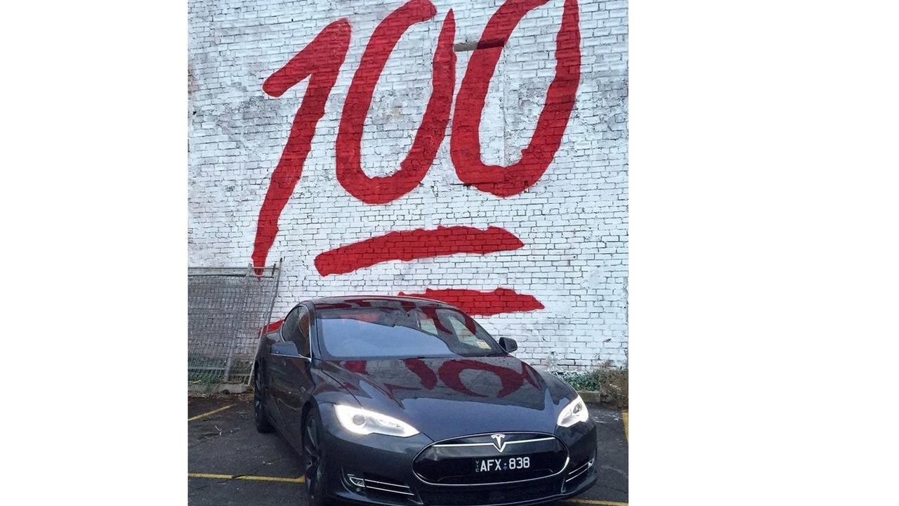 Possible Tesla Model S 100-kwh teaser