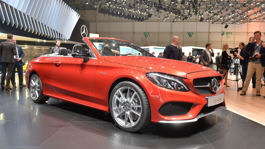 Mercedes C Class Cabrio goes topless in Geneva