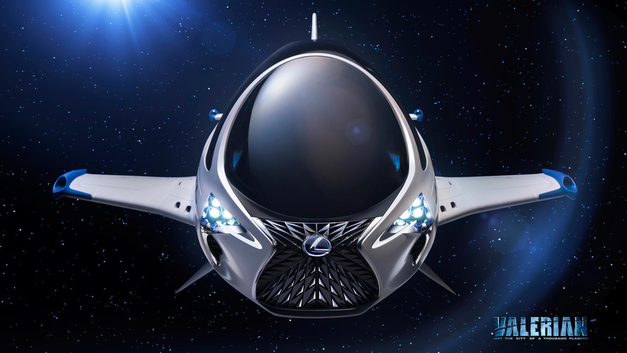 Lexus spaceship Valerian and the City of a Thousand Planets