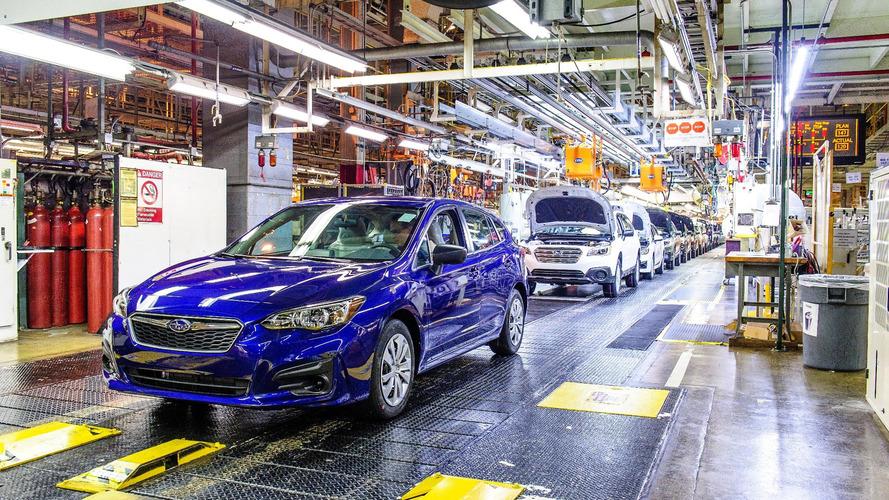 First Subaru Impreza made in U.S. rolls down the line