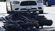 Toronto motorcycle gang taunts motorists and causes fiery crash