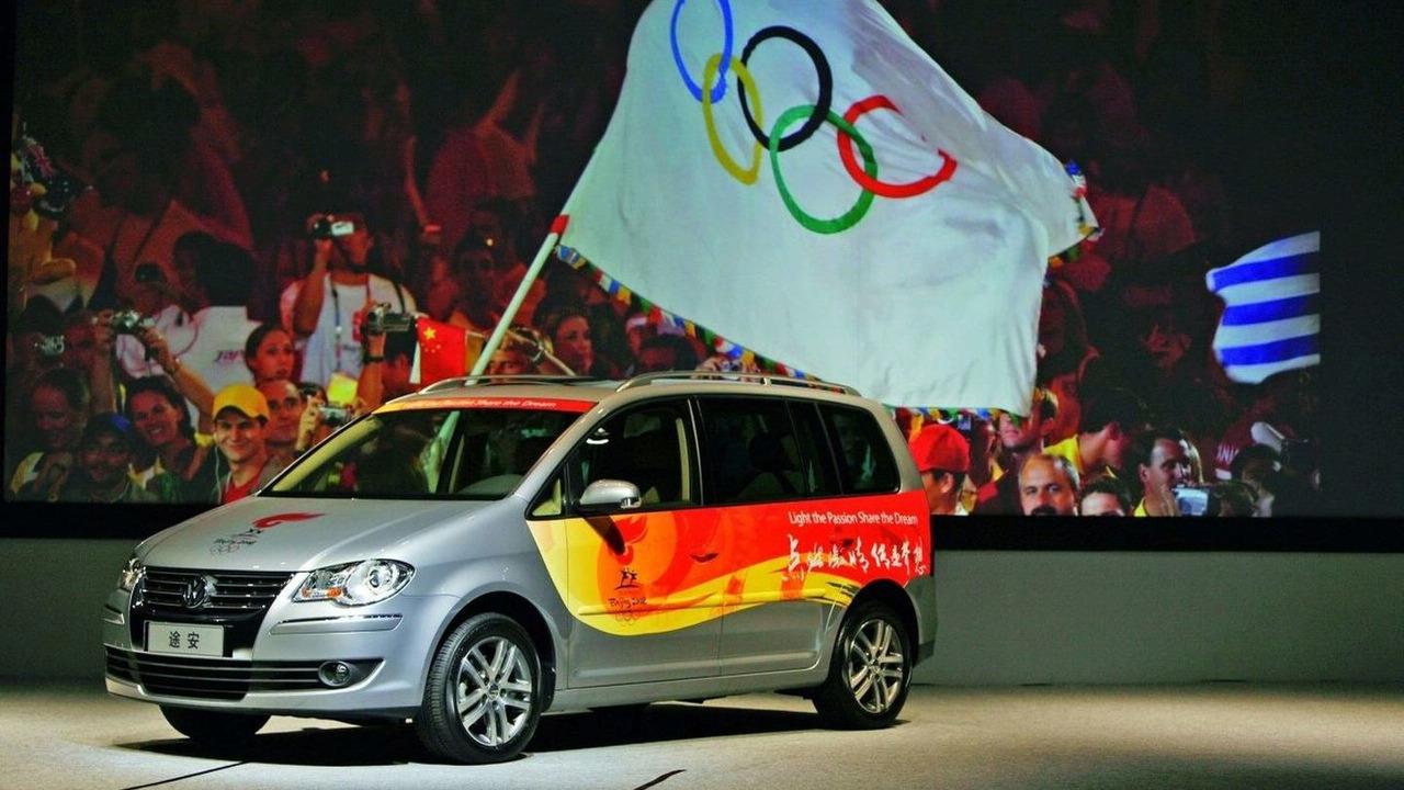 Olympic Flag Flying Volkswagen