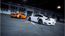 Lamborghini Gallardo and Porsche 911 Turbo with ADV.1 wheels, 1024, 23.12.2011
