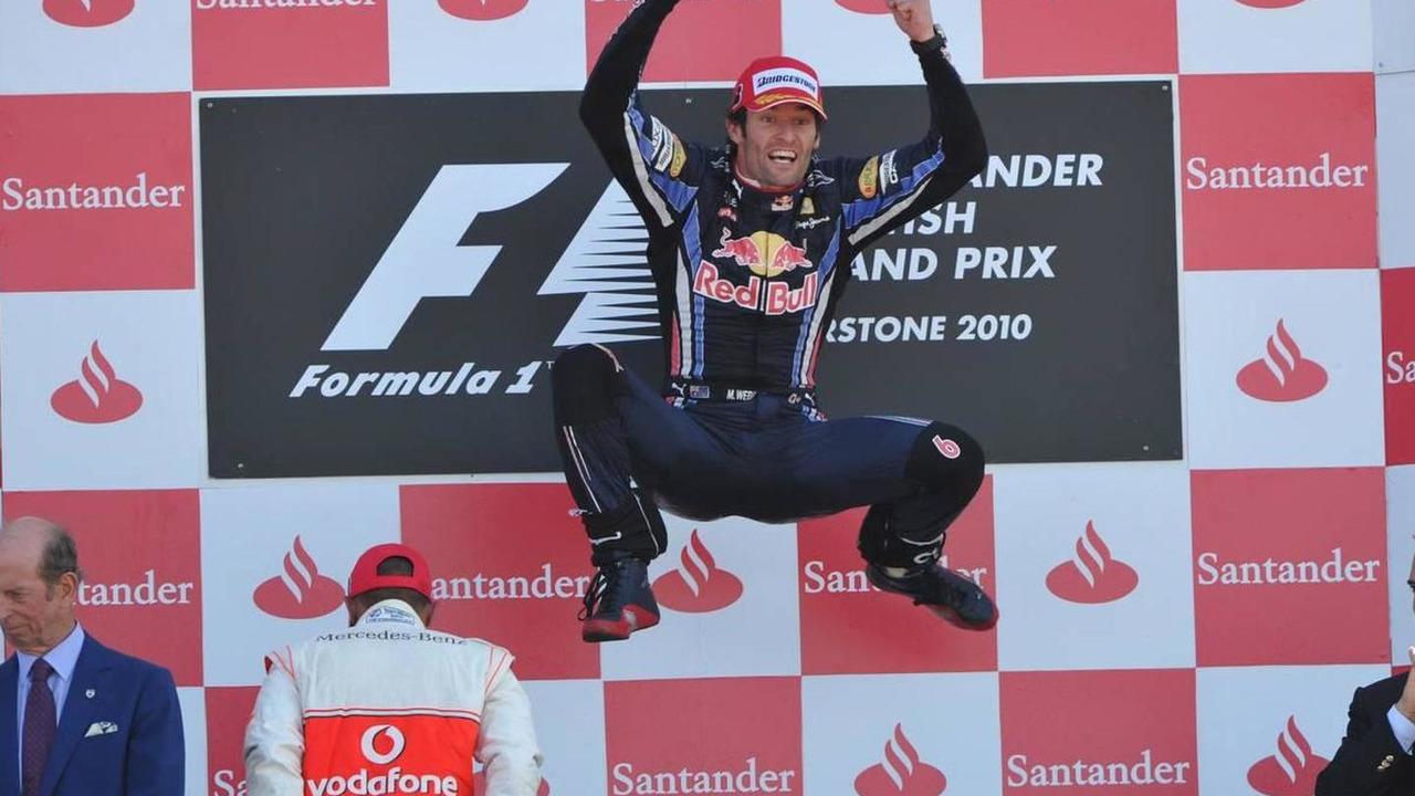 Mark Webber (AUS), Red Bull Racing, British Grand Prix, Sunday Podium, 11.07.2010 Silverstone, England