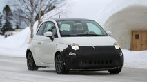 2016 Fiat 500 facelift spied inside & out