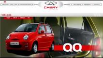 Chery QQ já está no site da marca no Brasil