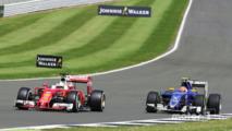 Sebastian Vettel, Ferrari SF16-H and Felipe Nasr Sauber C35