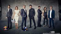 Mark Webber, Susie Wolff, David Coulthard, Steve Jones, Karun Chandhok, Lee McKenzie, Eddie Jordan